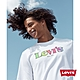Levis 男款 短袖T恤 復古漸層Logo 寬鬆休閒版型 白 product thumbnail 1