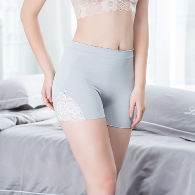 Redberry 蝴蝶結蕾絲花邊安全褲 女用防走光內搭褲 性感花邊 薄款 4色系