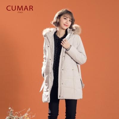 【CUMAR】鋪棉中長版-外套(二色)