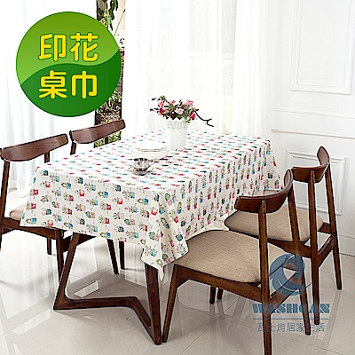 Washcan瓦士肯 清新印花桌巾-彩色塗鴉 120x170cm