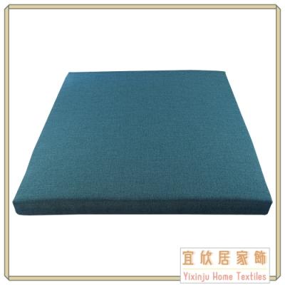 【宜欣居傢飾】亞麻藍-防貓抓防潑水精緻實木椅座墊6入 55*55*5cm 台灣製