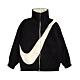 Nike 外套 NSW Swoosh Jacket 女款 雙面穿 大勾勾 保暖 毛毛 立領 黑 米 DC5138010 product thumbnail 1