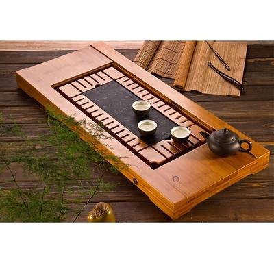 【原藝坊】祥福天然重竹整塊烏金石茶盤(茶味禪心)