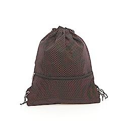 DF Queenin - 古典小資水玉點點提袋型束口後背包-共4色