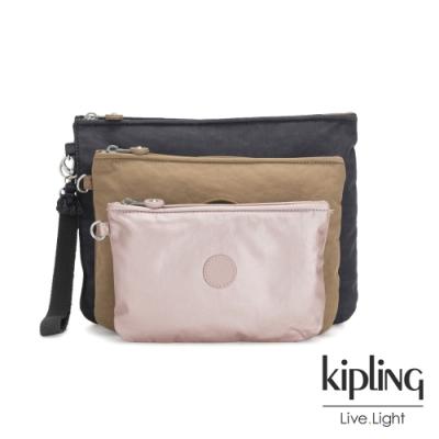 Kipling 質感大地系三色多袋實用配件包-IAKA L WRISTLET