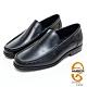 AMBER經典系列素面漸層皮革直套式紳士鞋方頭鞋-黑色 product thumbnail 1