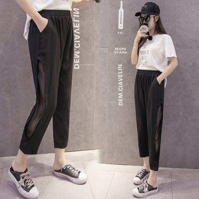 【韓國K.W.】(預購)韓流純淨花盛美腿褲-1色