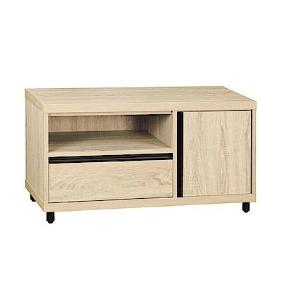 綠活居 羅亞時尚3尺木紋電視櫃/視聽櫃-91x40x48.5cm-免組