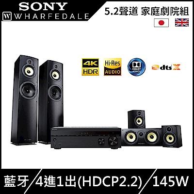 SONY 5.2聲道 家庭劇院組(SONY STR-DH590+Wharfedale CRYSTAL CR4.1/CR4.3/CR4.C)
