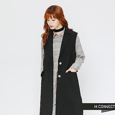 H:CONNECT 韓國品牌 女裝-長板背心西裝外套-黑