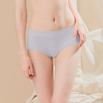 金紗圓點親膚棉質透氣M-XL中腰內褲 低調奢華 Clany可蘭霓
