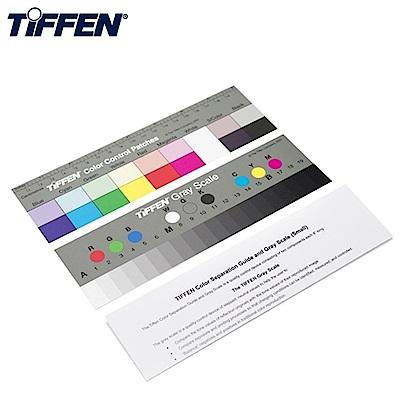 美國TIFFEN天芬專業色階卡校色卡+標準灰卡Q-13(2張入)校色板Color Separation Guide & Gray Scale適商業攝影