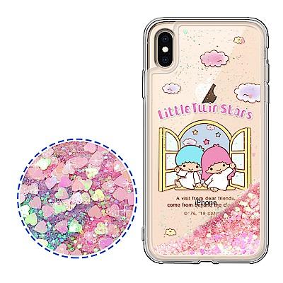 Kikilala 雙子星 iPhone Xs Max 6.5吋 流沙彩繪手機殼(美麗天堂)
