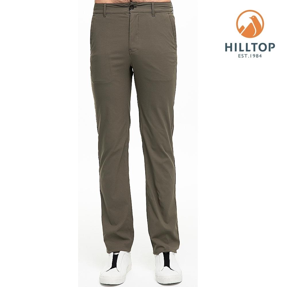 【hilltop山頂鳥】男款超潑水抗UV彈性長褲S07MC1灰綠
