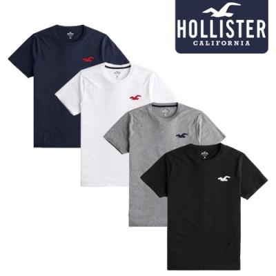 HOLLISTER 美國霍利斯特/刺繡經典/短袖素T恤/純棉款(HO-3243680188900)