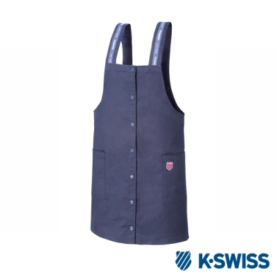 K-SWISS Cotton Twill Dress連身吊帶裙-女-藍