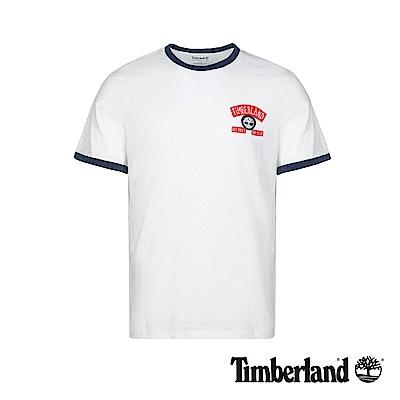Timberland 男款白色字母LOGO撞色短袖T恤 A1W78
