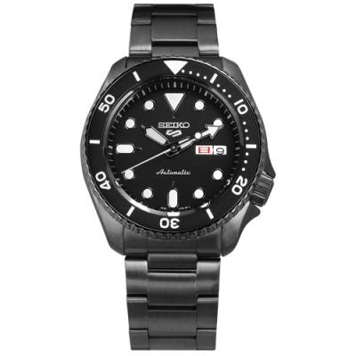 SEIKO 精工 5 Sports 機械錶 自動上鍊 不鏽鋼手錶 鍍黑 41mm