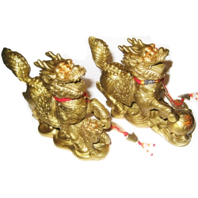 貔貅麒麟 (大)銅雕一對 開光純銅