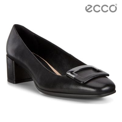 ECCO SHAPE 35 SQUARED 氣質方頭高跟鞋 女-黑