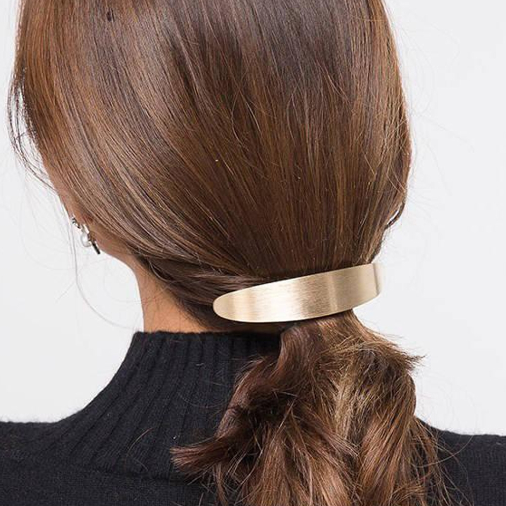 HERA 赫拉 金屬拉絲船型圓弧彈簧夾髮飾-2色