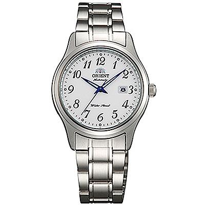 ORIENT東方錶  優雅經典手動上鍊女錶鋼帶(FNR1Q00AW0)-白x30mm