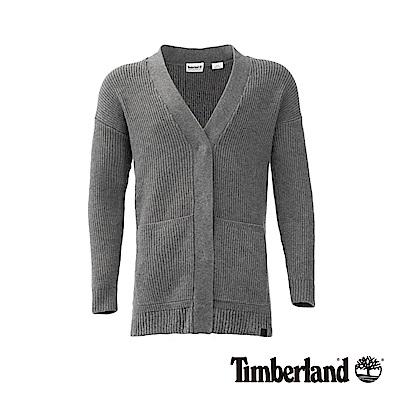 Timberland 女款灰色石南花色平紋毛衣 | B2707