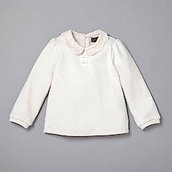 PIPPY 氣質蕾絲領上衣 白