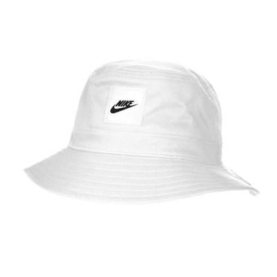 NIKE 漁夫帽-純棉 遮陽 防曬 帽子 休閒 CK5324100 白黑