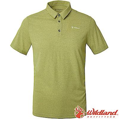Wildland 荒野 P1606-40芥末綠 男POLARTEC排汗POLO衫