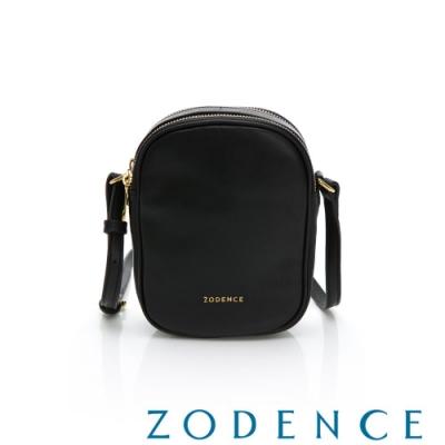 ZODENCE RELAX系列進口彩色牛皮直式皮夾包 黑