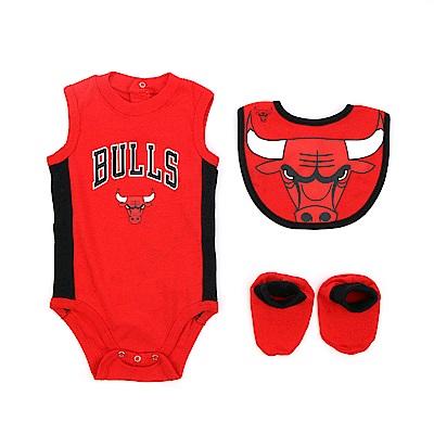 NBA 新生兒包屁衣組合 公牛隊