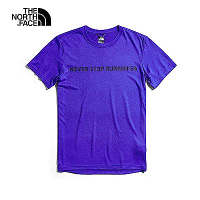 The North Face北面男款紫色吸濕排汗短袖T恤|3V799PU