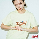 X-girl TENNIS S/S REGULAR TEE短袖T恤-黃