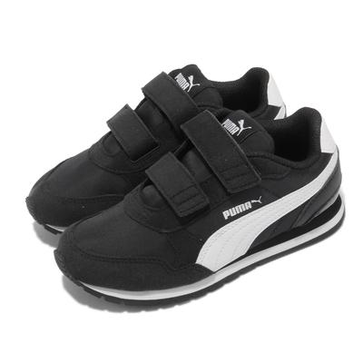 Puma 休閒鞋 ST Runner V2 NL V 童鞋 魔鬼氈 復古 外出 輕便 中童 黑 白 36529401