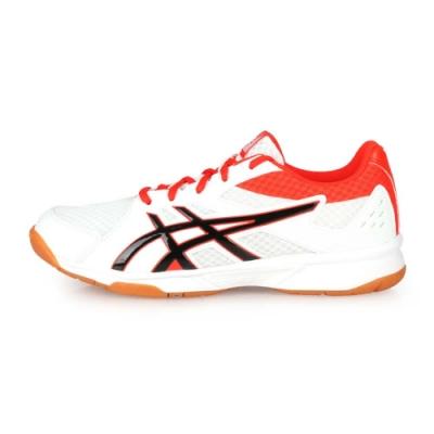 ASICS 男 排羽球鞋 UPCOURT 3 白橘紅