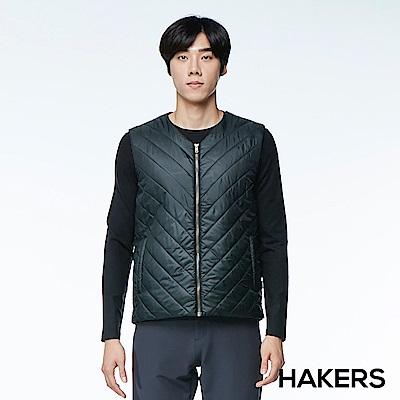 【HAKERS 哈克士】男款 保暖背心(黑色)