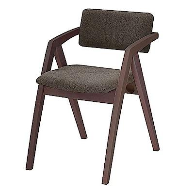AS-艾倫灰布胡桃餐椅-49x60x74cm