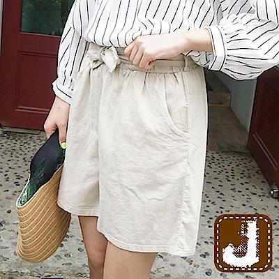正韓 舒腰繫結綁帶休閒短褲-(共二色)100%Korea Jeans