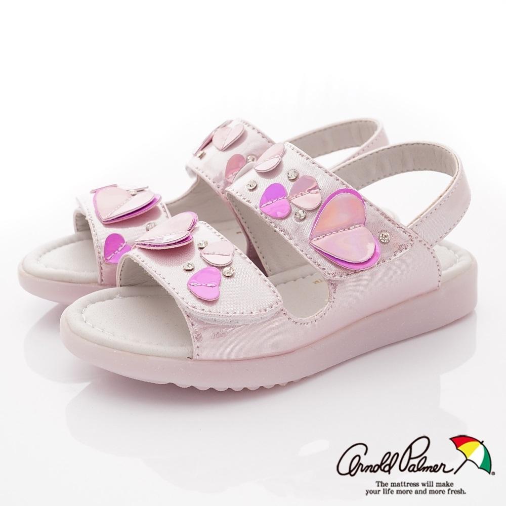 雨傘牌 愛心亮飾涼鞋款 EI93857粉紅(中小童段)