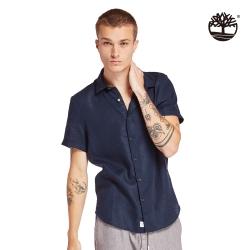 Timberland 男款白色口袋印花UV防護短袖圓