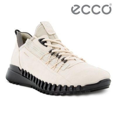 ECCO ZIPFLEX M 酷飛運動戶外休閒鞋 DYNEEMA皮革款 男鞋 石灰色