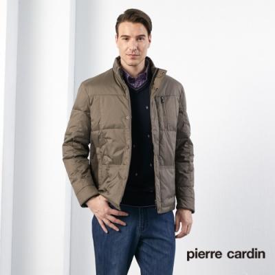 Pierre Cardin皮爾卡登 男裝 休閒立領羽絨夾克外套-褐色(5165772-85)