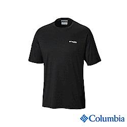 Columbia哥倫比亞 男款-UPF50快排短袖上衣-黑色 UFE00730BK