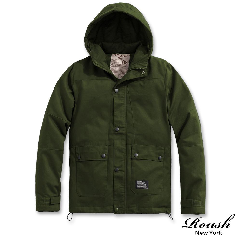 Roush 軍事工裝鋪棉連帽大衣外套2.0(3色)