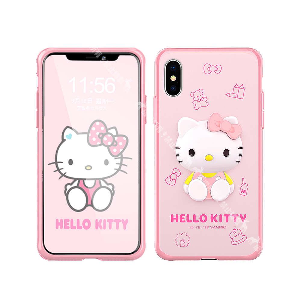 Hello Kitty iPhone XR 6.1吋 3D立體手機殼(甜點)