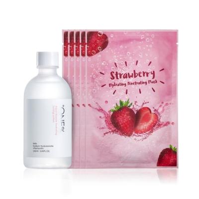 【歐恩伊】基礎保濕組-保濕化妝水165ml+草莓面膜21ml(5入/盒)