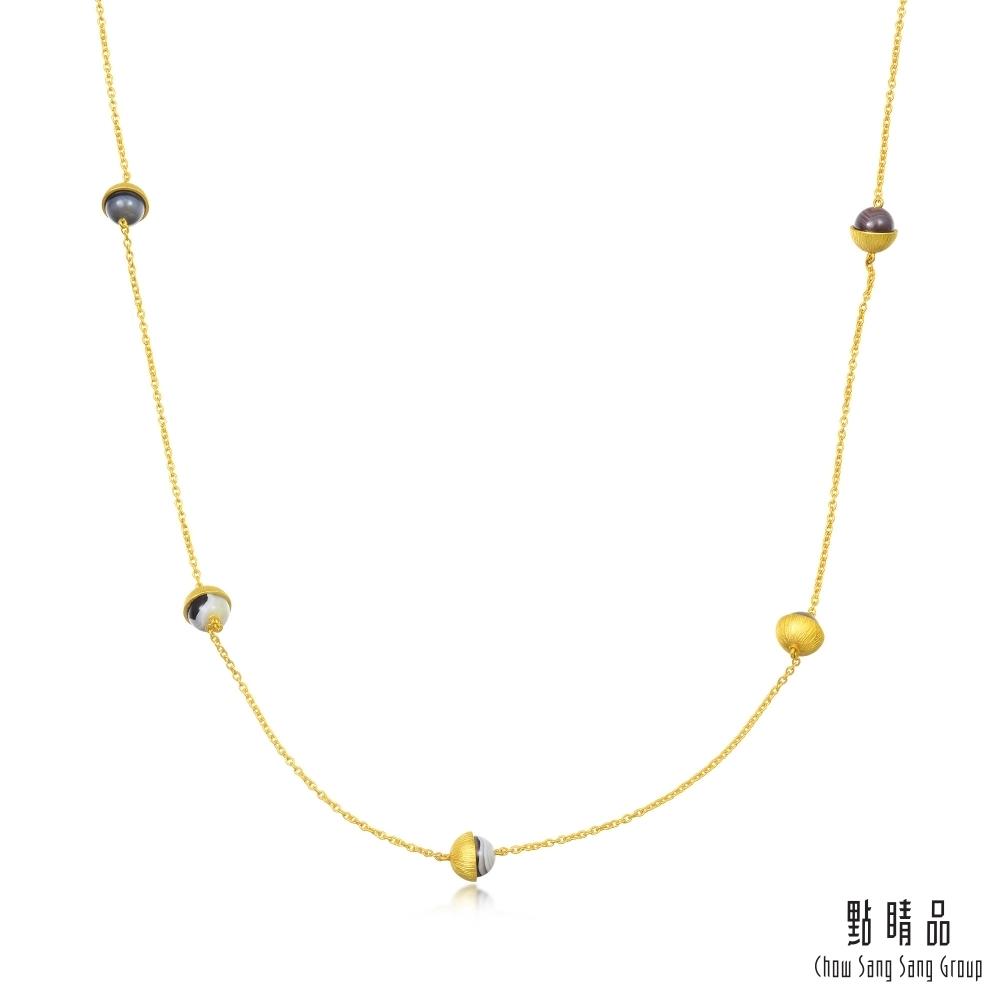 點睛品g collection波斯瑪瑙黃金繞頸垂墜項鍊(長鍊)
