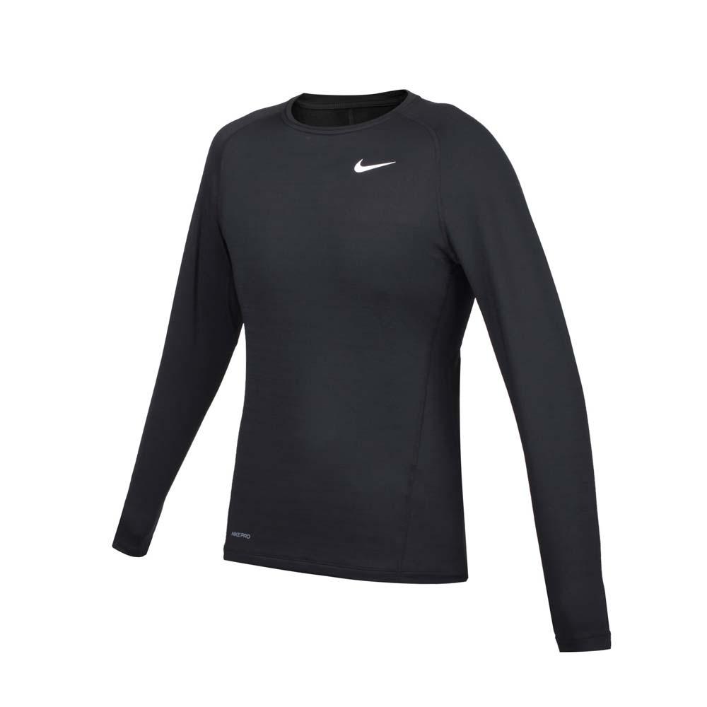 NIKE 男緊身長袖T恤-DRI-FIT 運動 健身 慢跑 上衣 CV3047-010 黑白