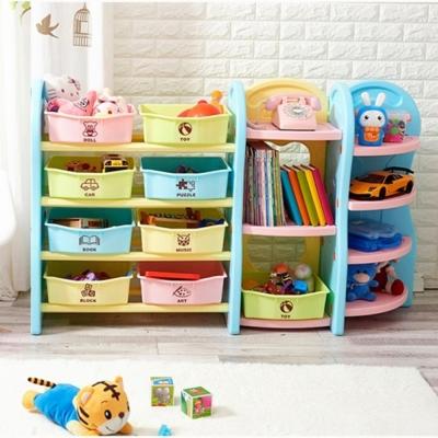 IDEA-繽紛淡彩兒童多功能玩具收納架